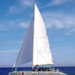 Katamaran Magic Taiti 60 unter Segeln